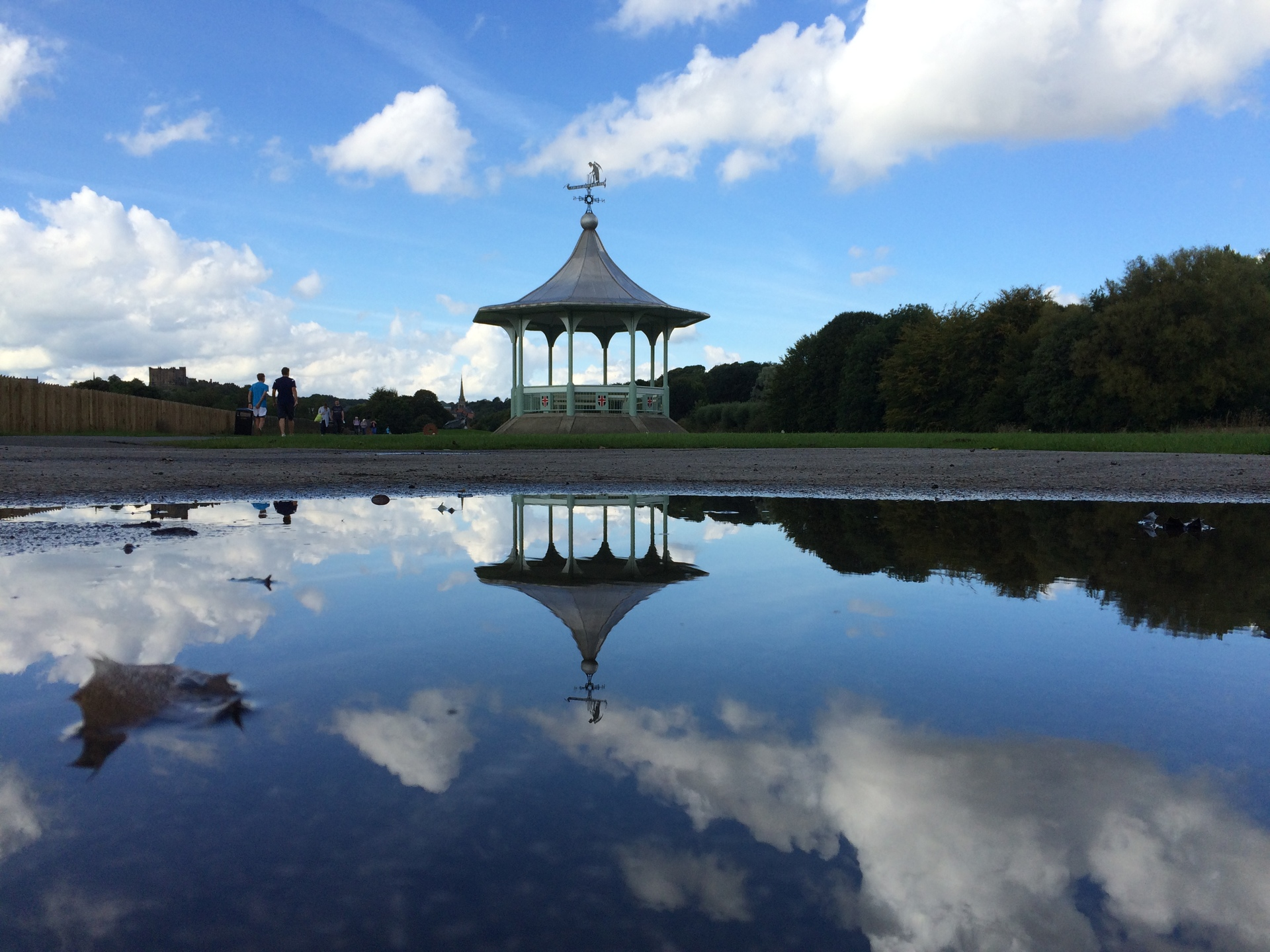 Durham Bandstand. Spotted a puddle with a lovely reflection opportunity ....
