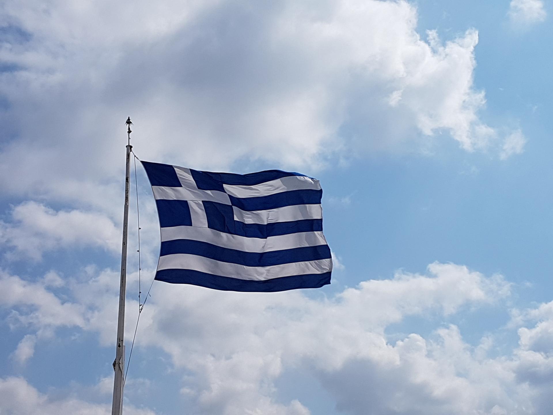 Greece flag | boubouh, sky, wind, flagpole