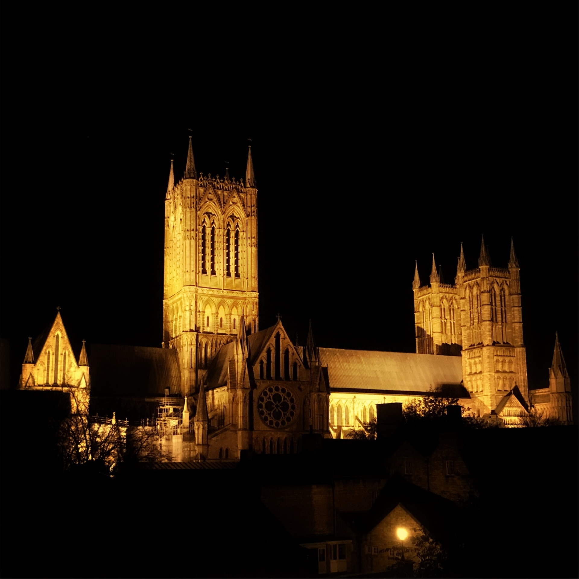 Lincoln cathedral at night   mezmic, architecture, church, goth like