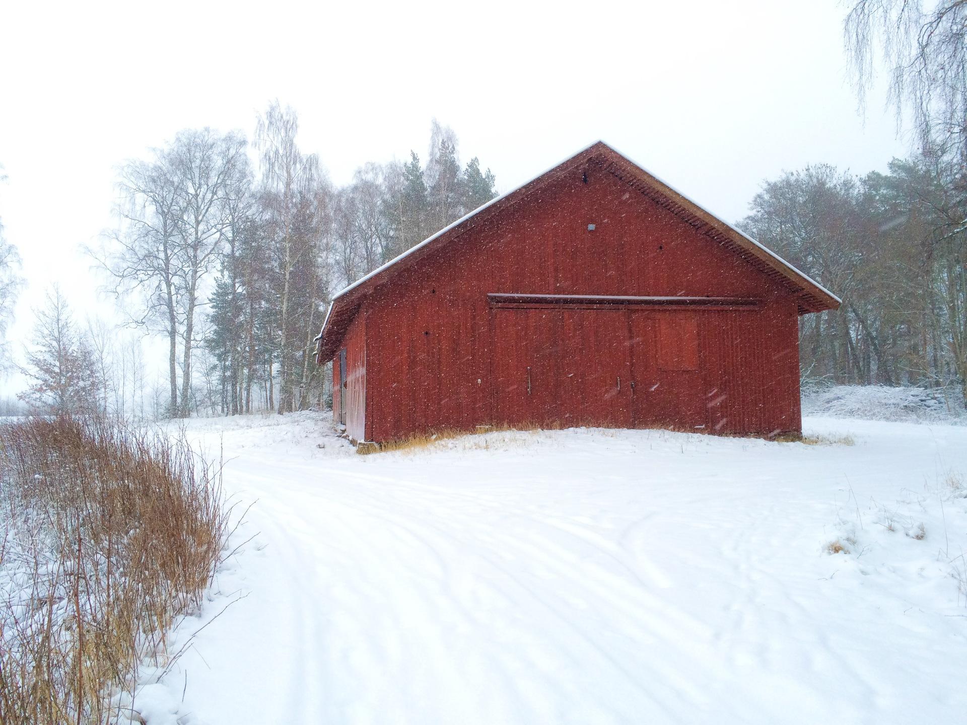 Winter landscape | akilles, barn, cold, farm