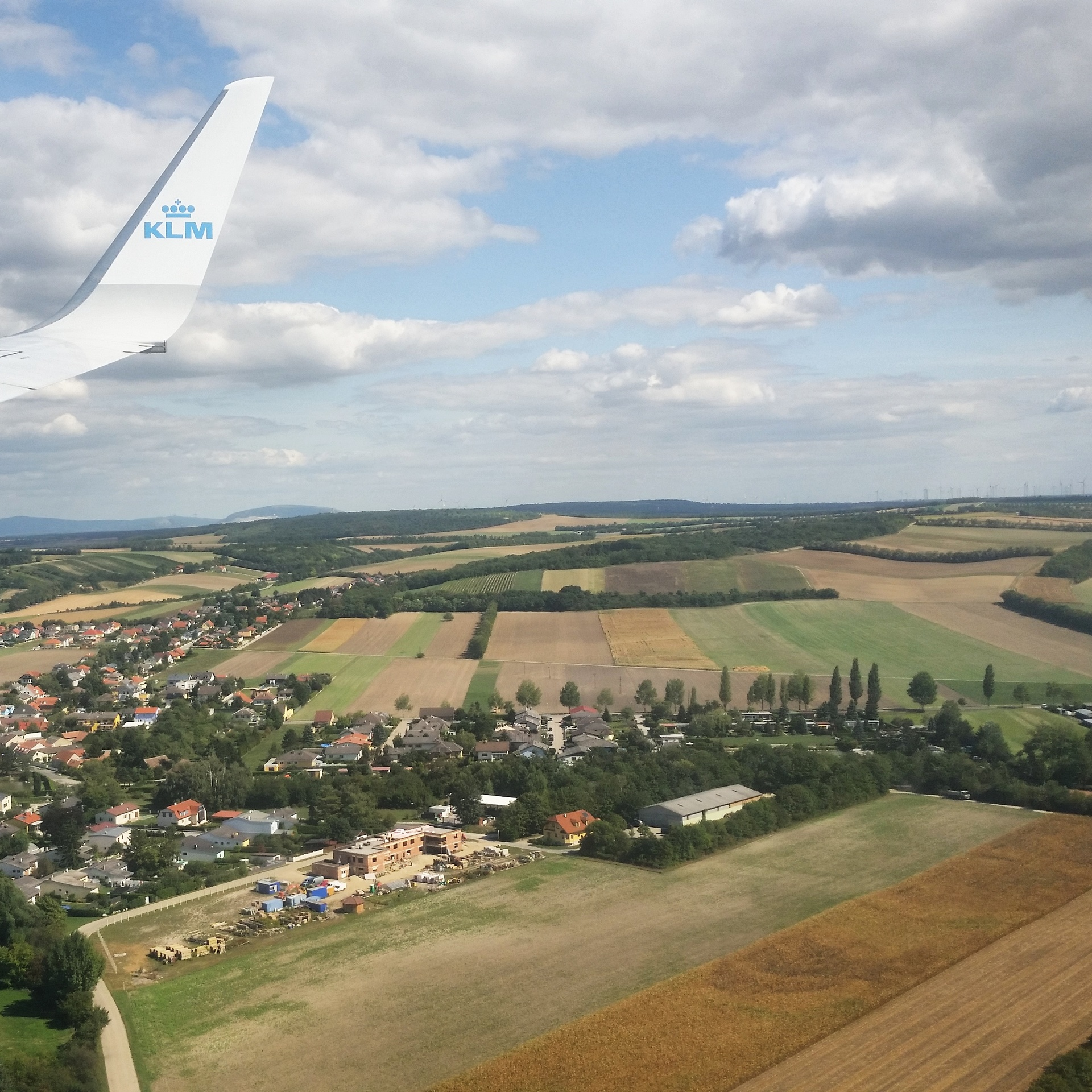 Landing in Vienna. September 2015