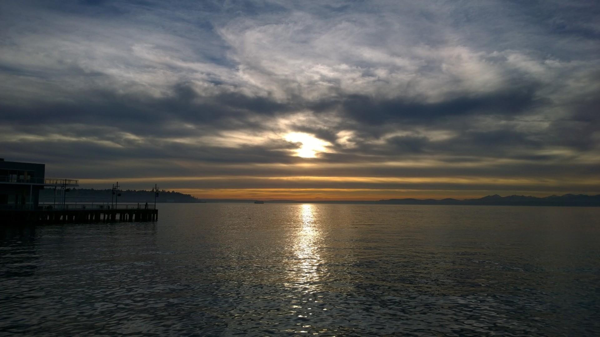 Seattle sunset    elise81, beach, dusk, evening