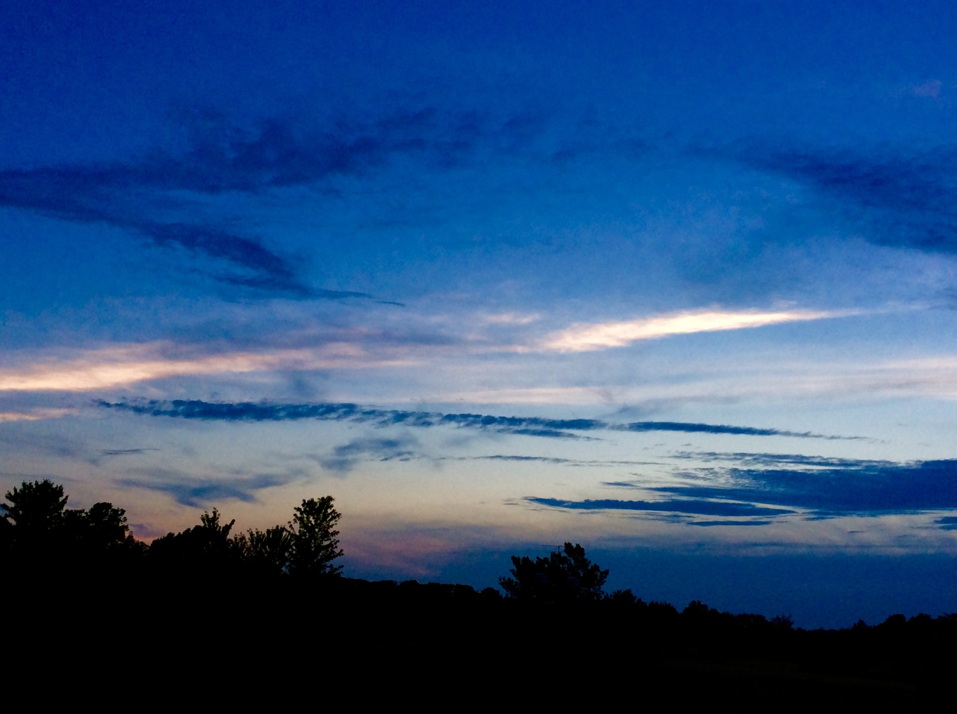 Evening sky | twilight, night, nature, landscape