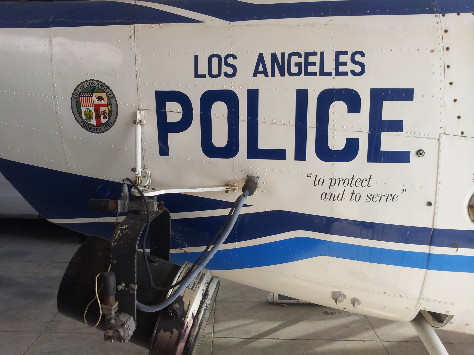 lapd their first helicopter. lapds first police helicopter