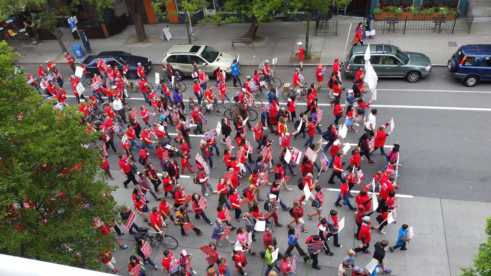 Teacher Education Protest in Seattle. Mat 2015