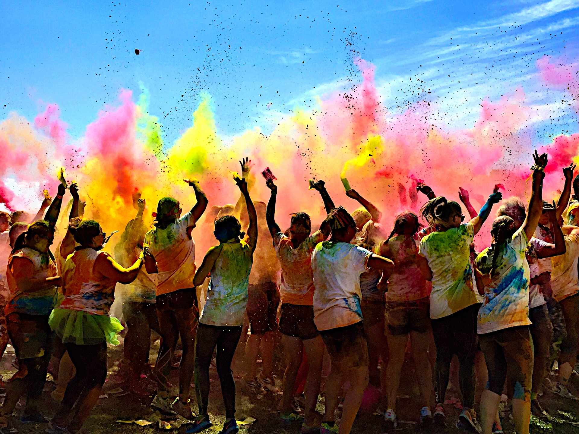 Color Run!  | rave, rally, people, music