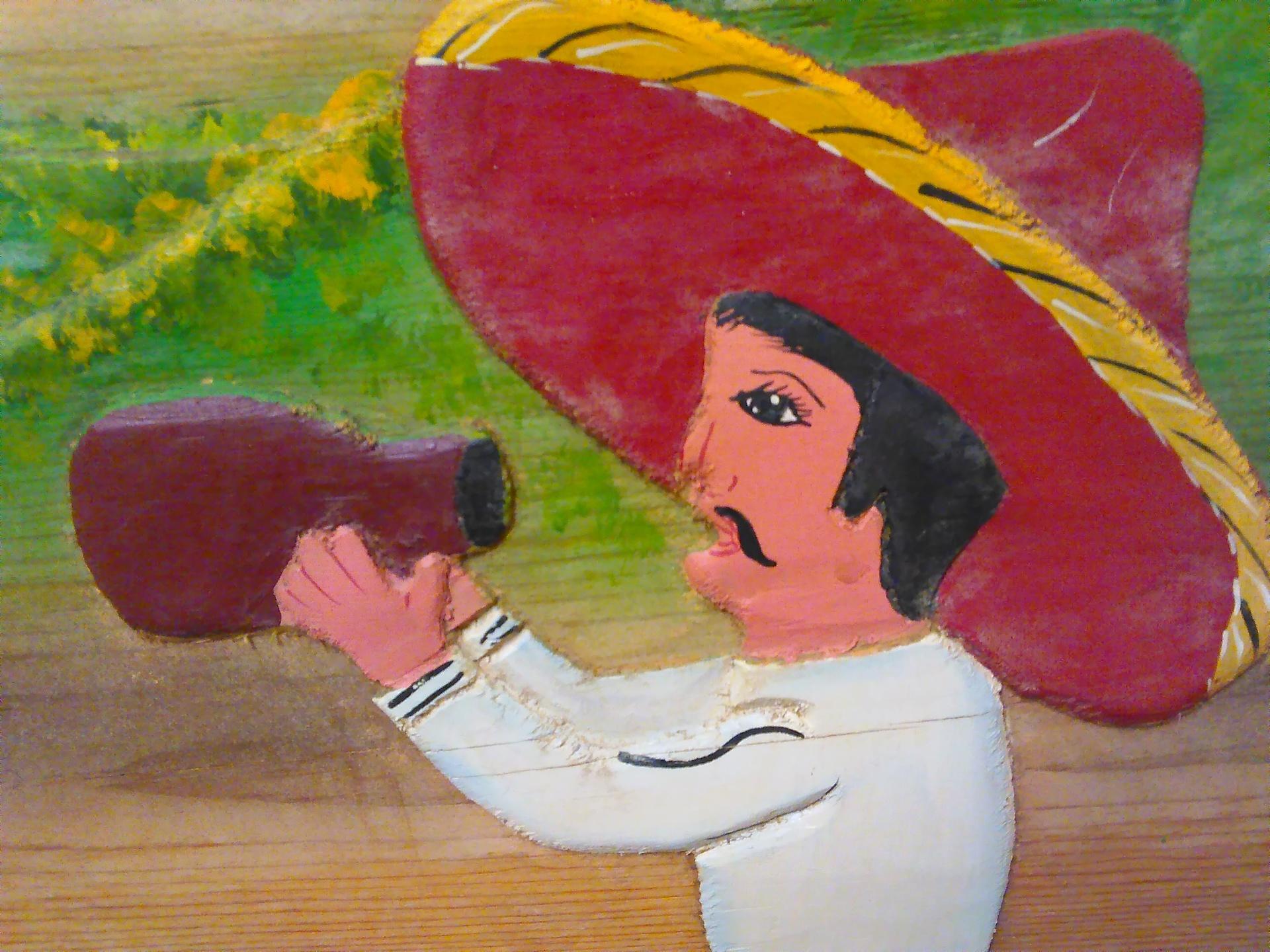 Sombrero man 2 | codenamesailorearth, artistic, illustration, wall