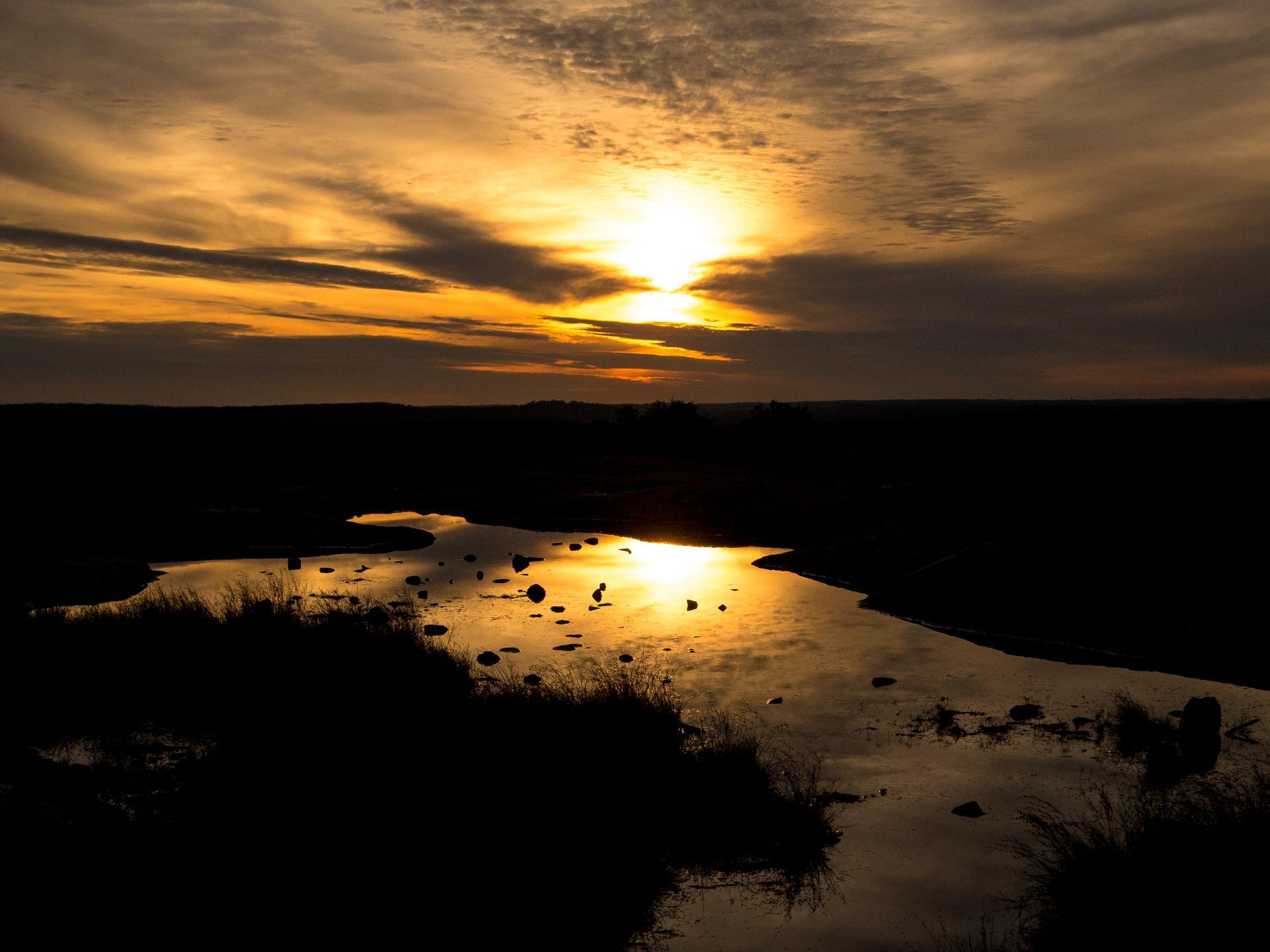 Golden Sunset at Bradley Peak