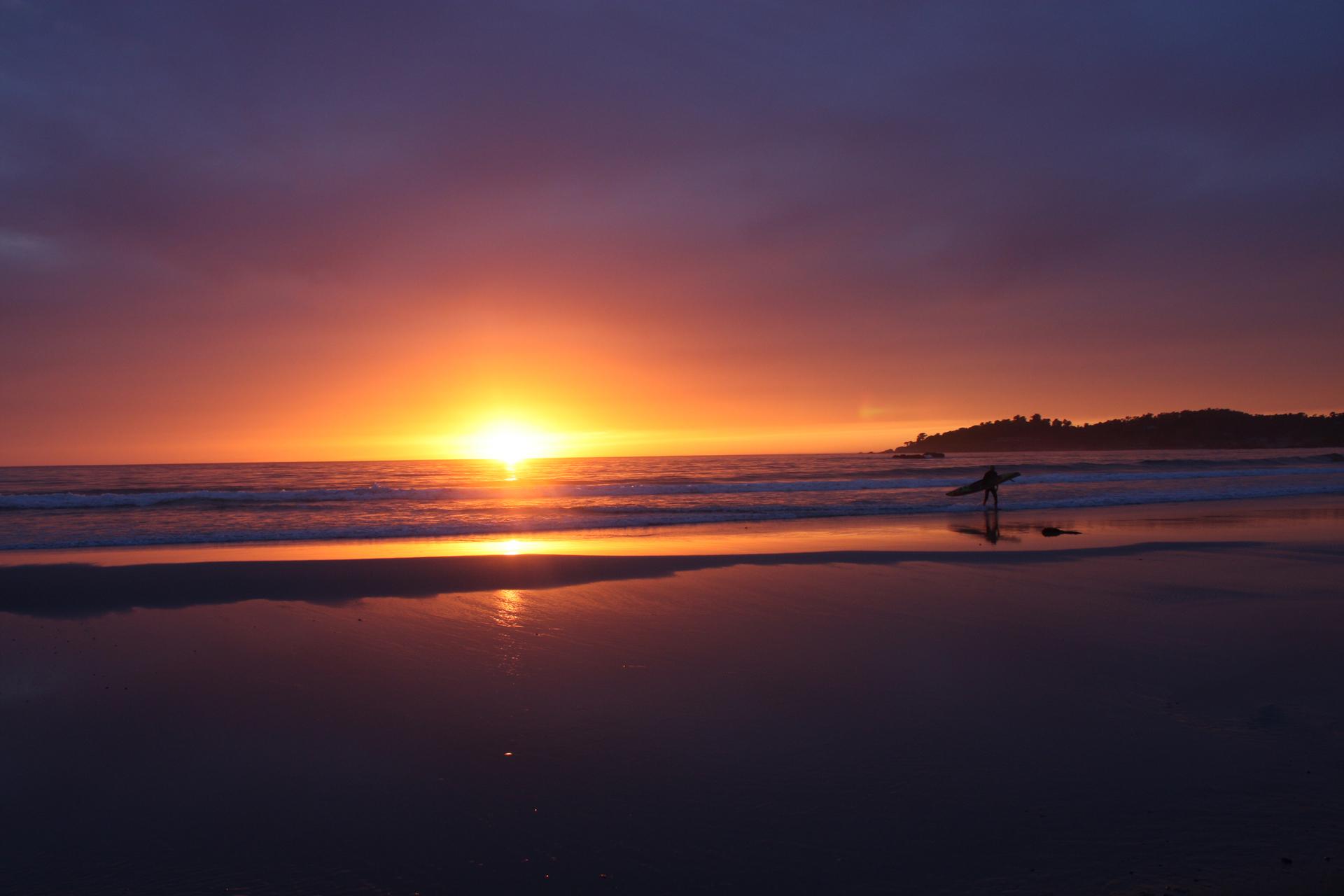 sunset   dawn, sun, water, evening