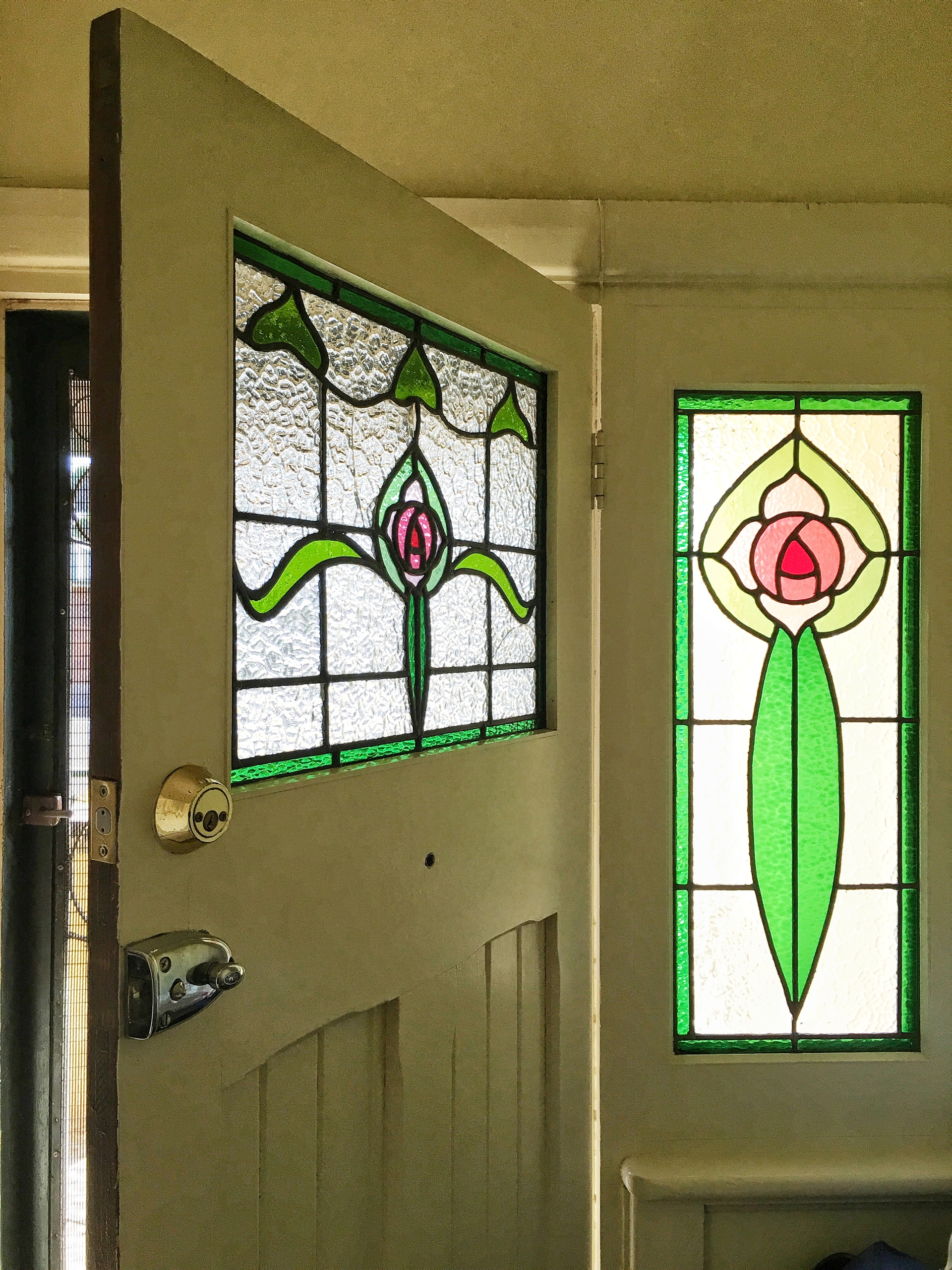 1920s stained glass front entry door and window Australia & Foap.com: 1920s stained glass front entry door and window ... Pezcame.Com