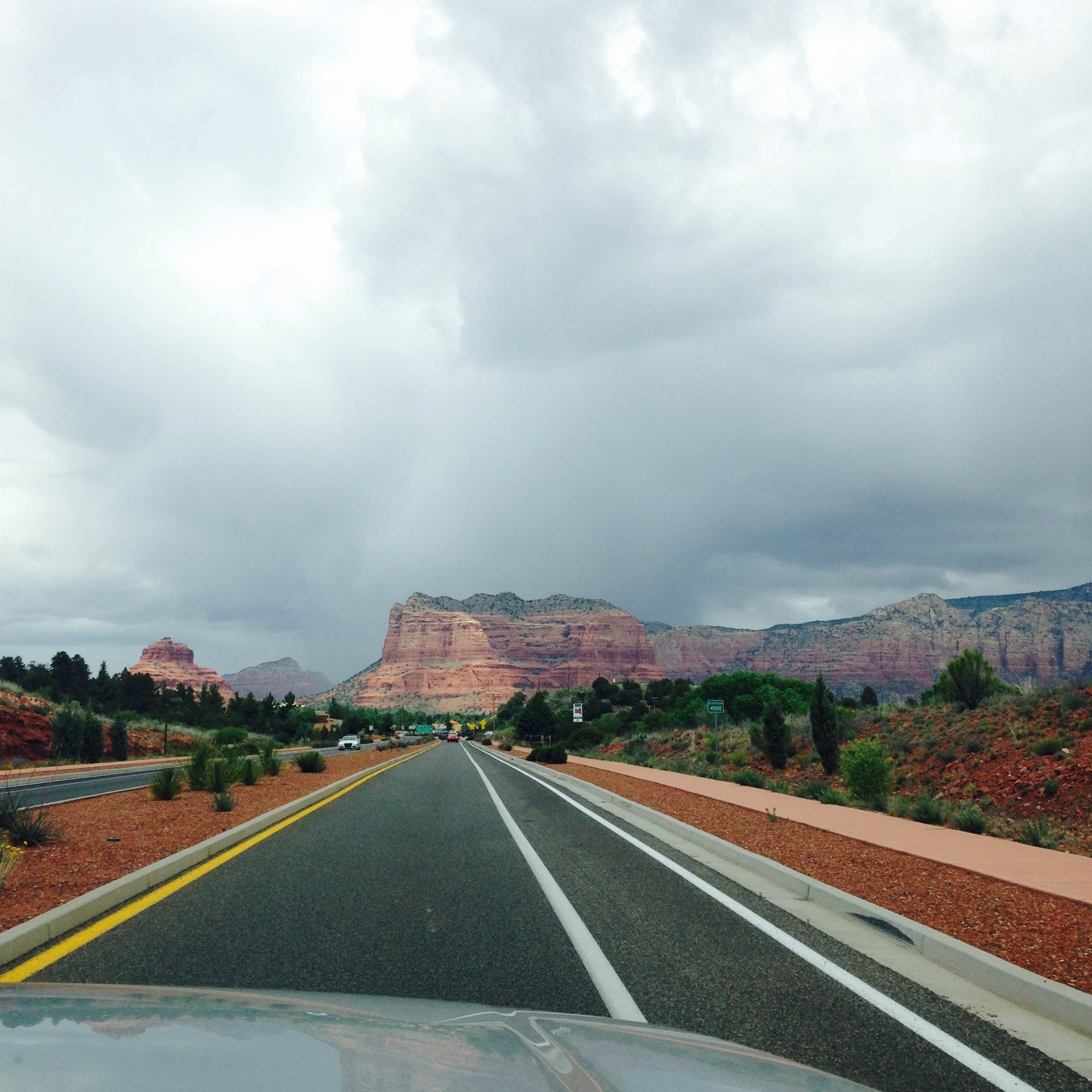 Cloudy Sedona Arizona  | scenic, landscape, mountain, rock