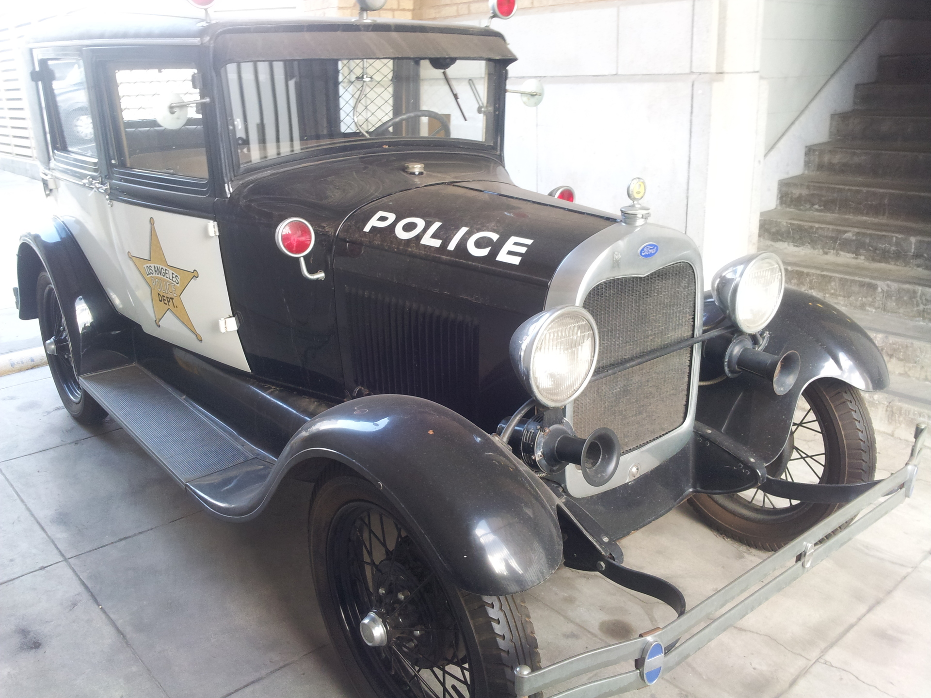 old lapd police car. old lapd police car