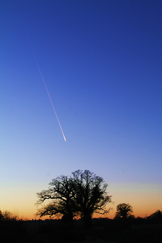 Shooting star? | bon_well, blue sky, landscape, nature