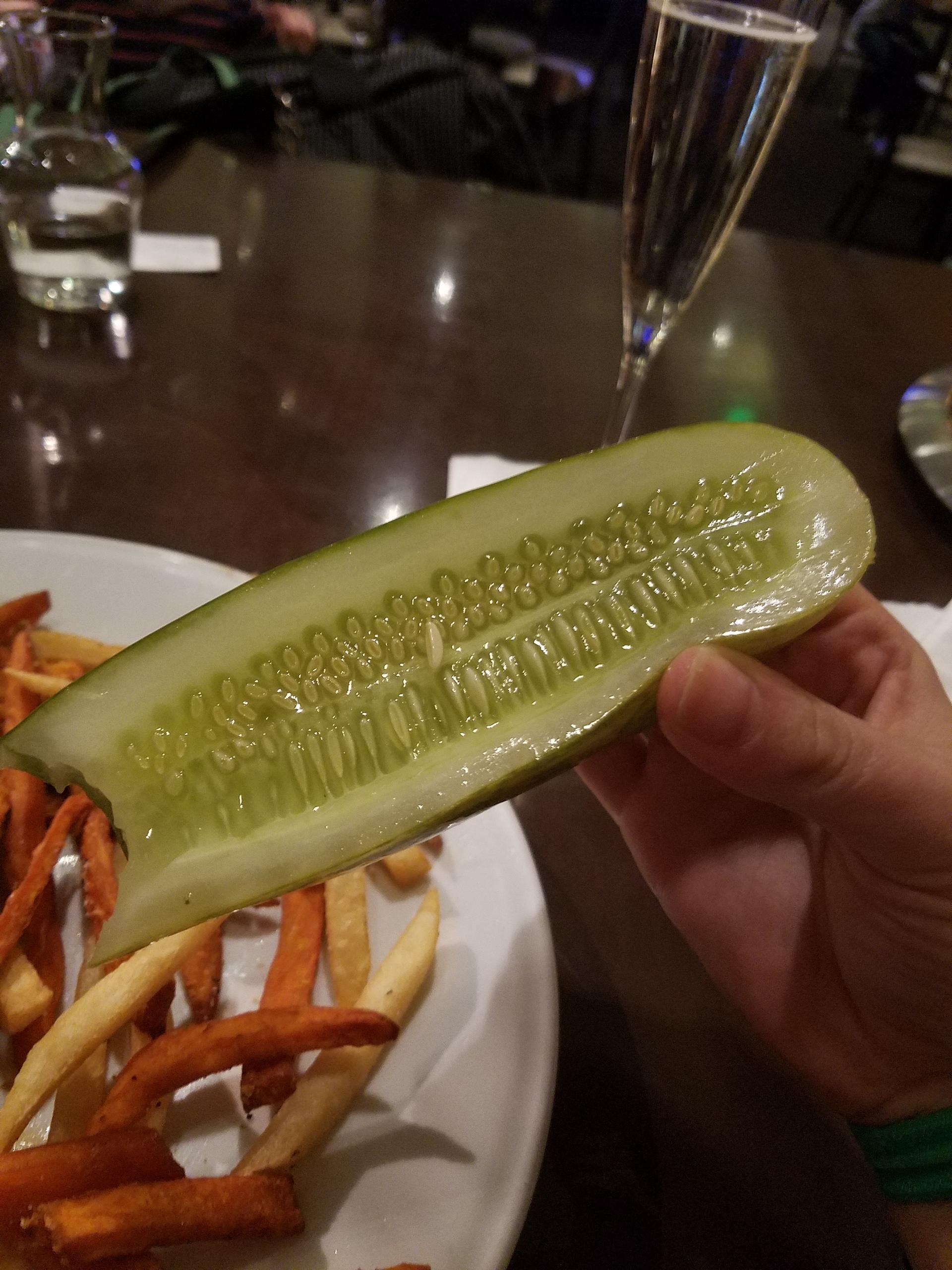 eating a pickle | elise81, adult, food, bite