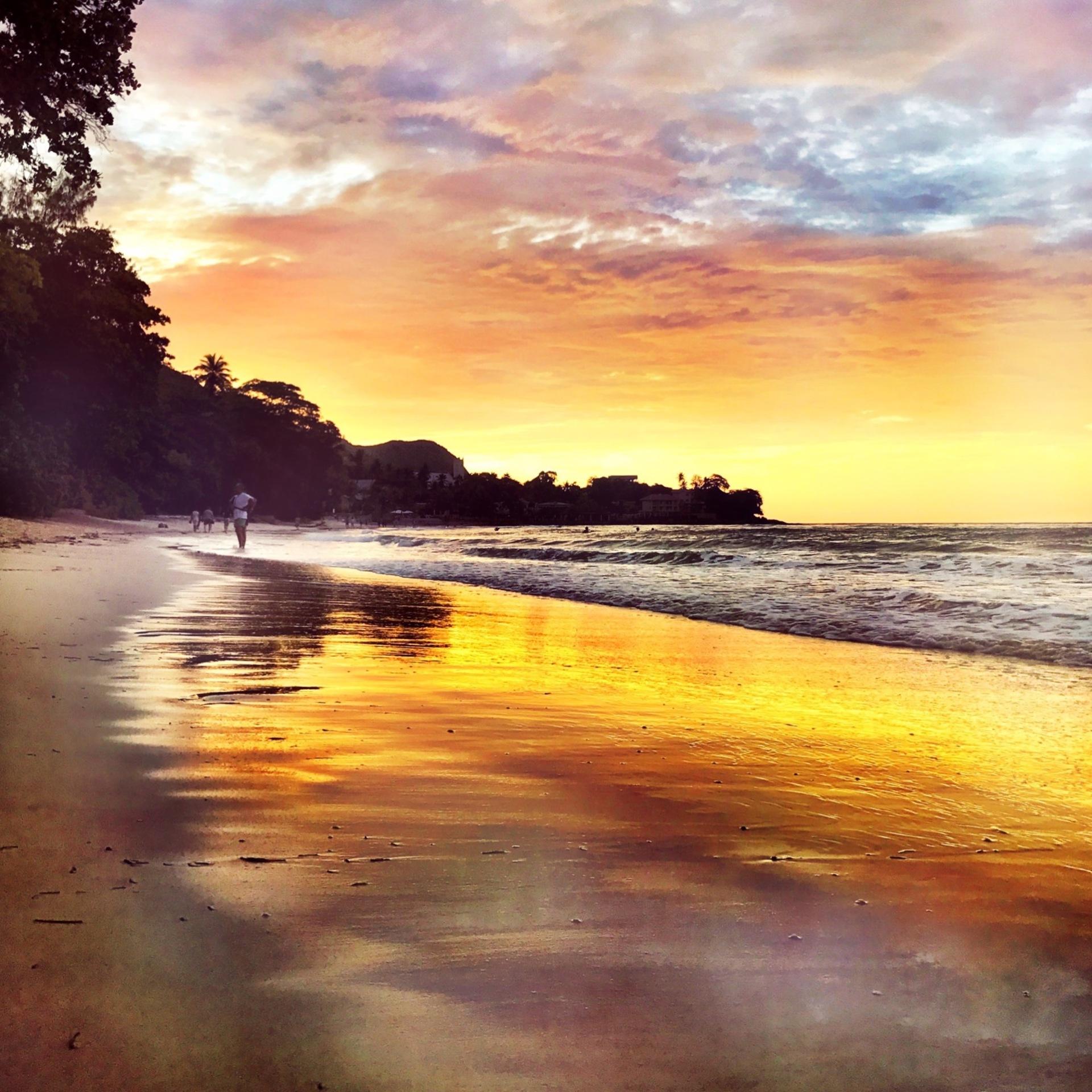 Sunset, Water, Dawn, Beach, Sun