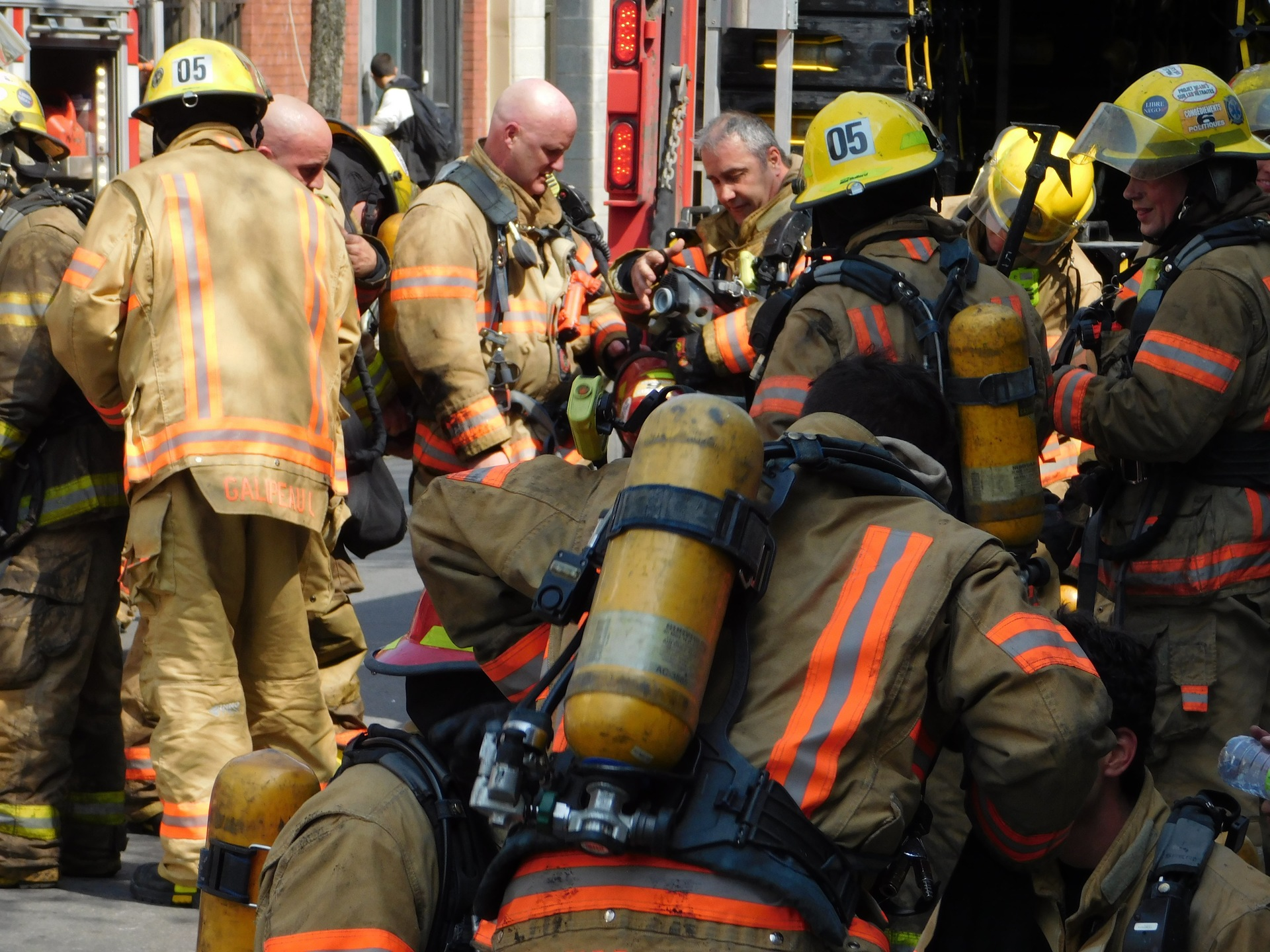 Montreal firemen   rick.cognyl.fournier, flame, uniform, fire