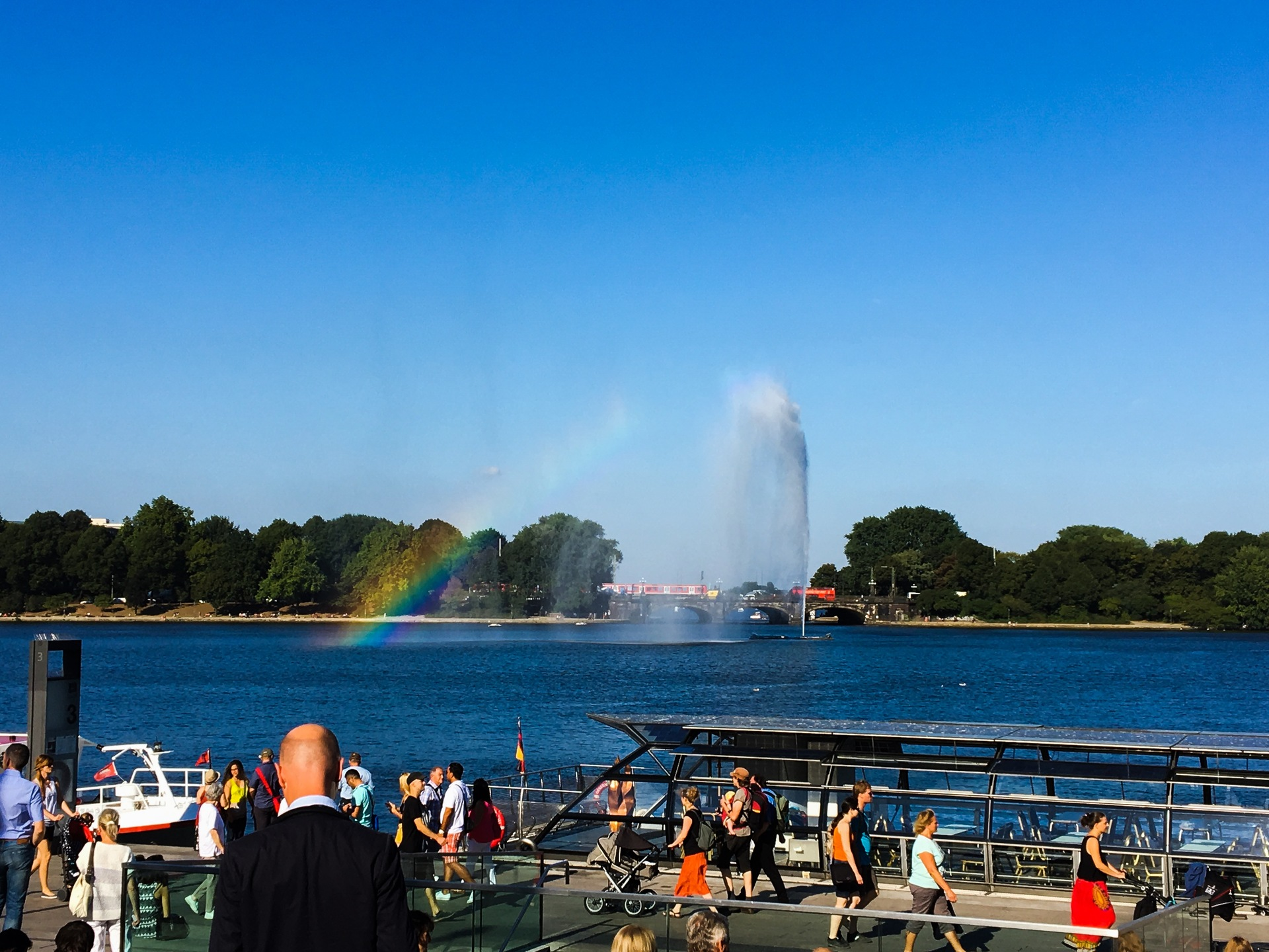 Hamburg at the Alster | water, travel, tourist, tourism