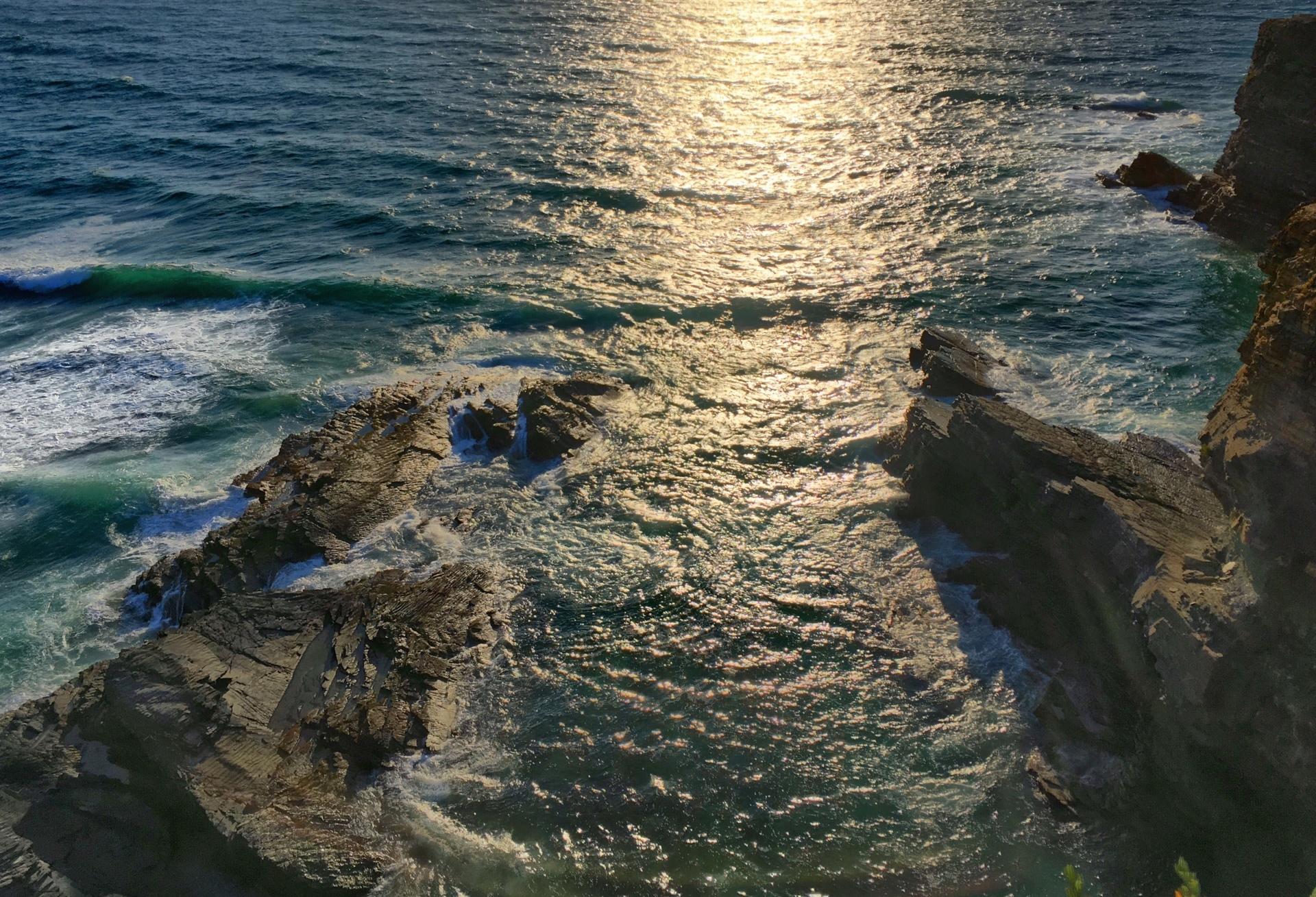 Sea  | scenic, sunset, rock, landscape
