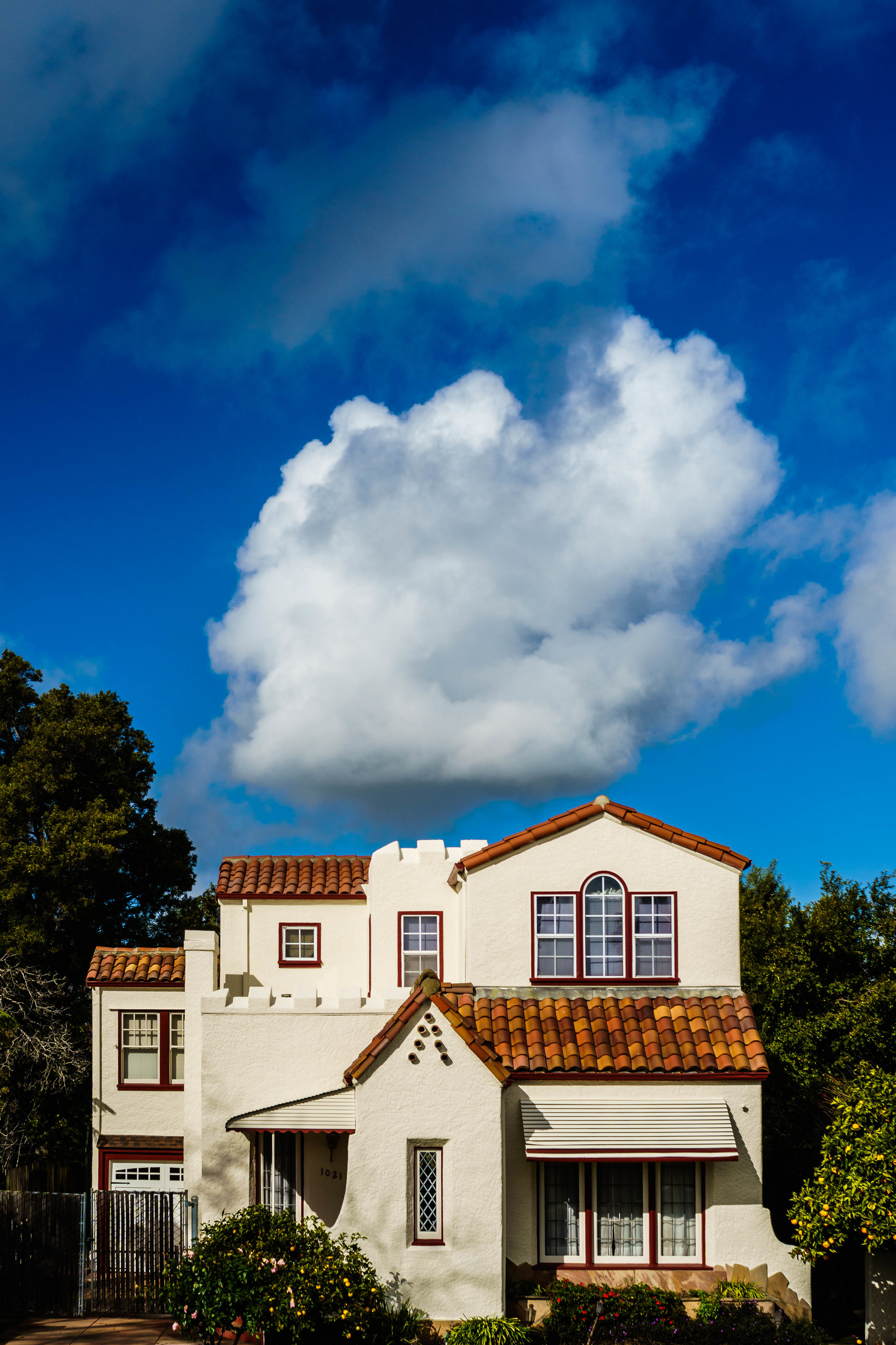 View of a house against sky