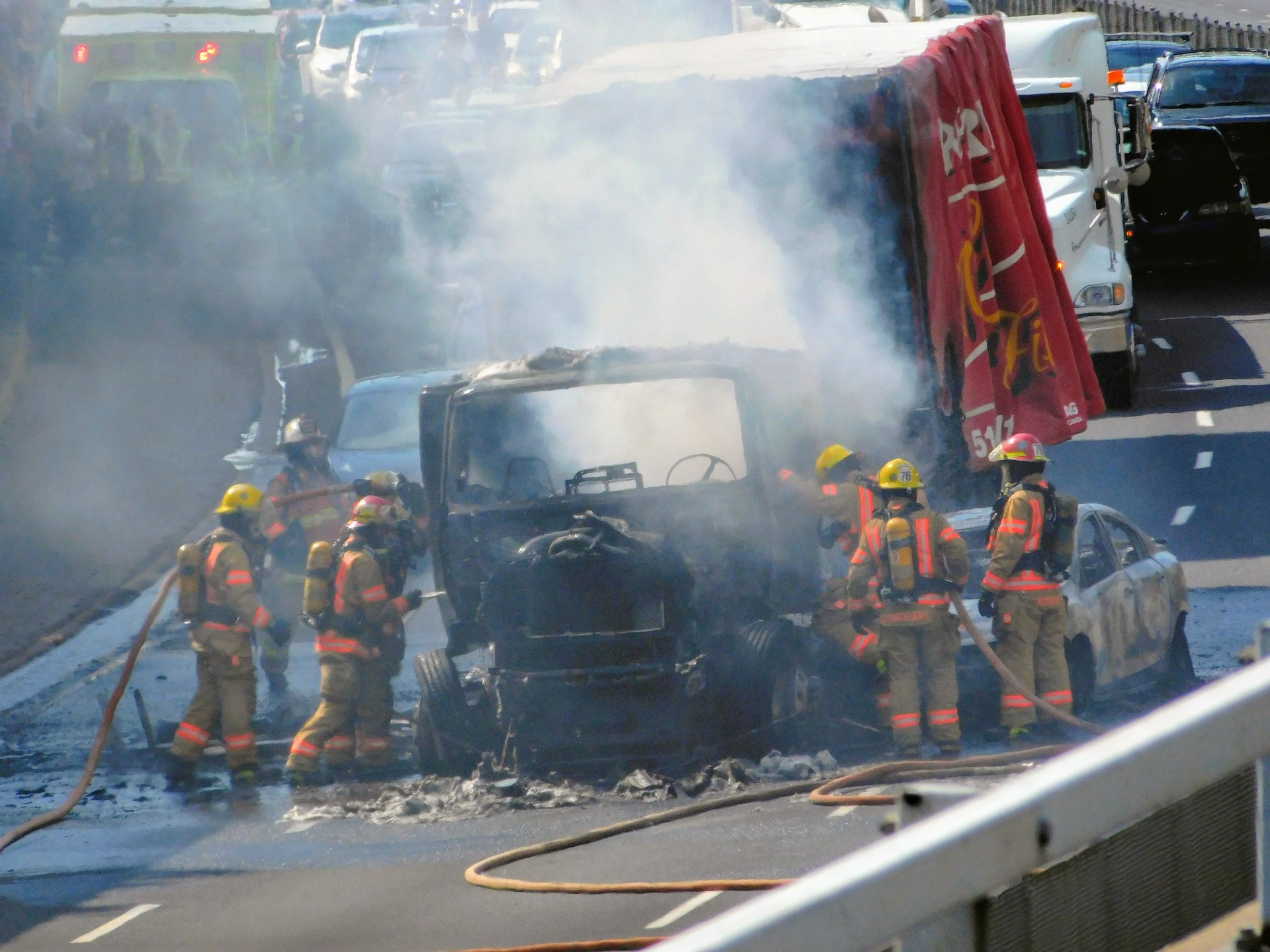 Burnt truck | rick.cognyl.fournier, accident, hose, people