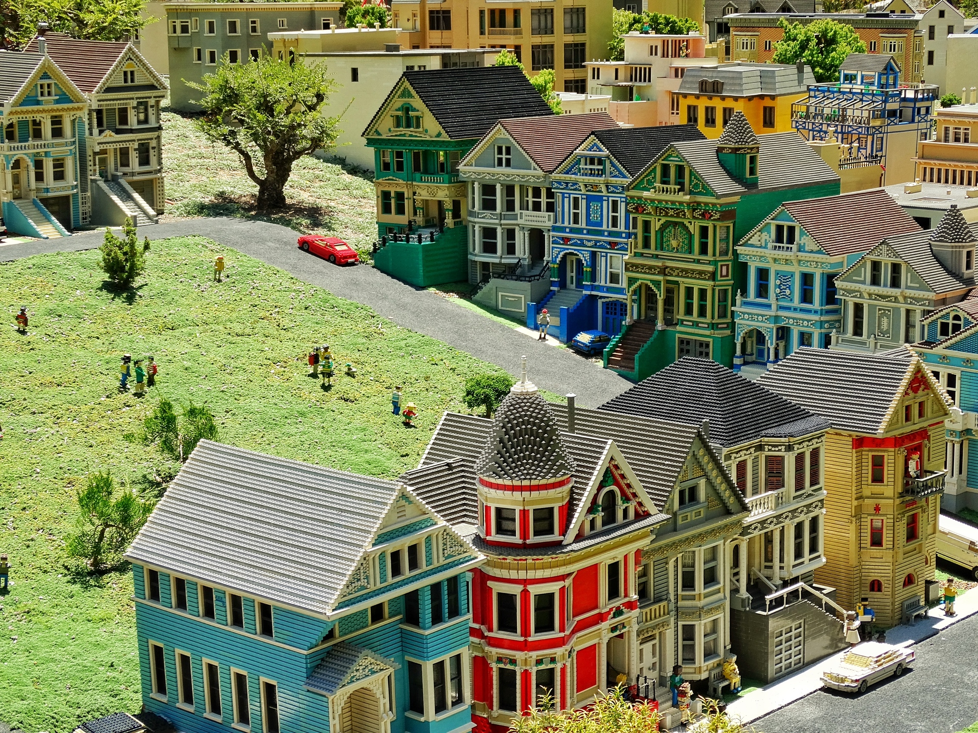 San Francisco Marina District. Lego Diorama Of San Francisco Marina District