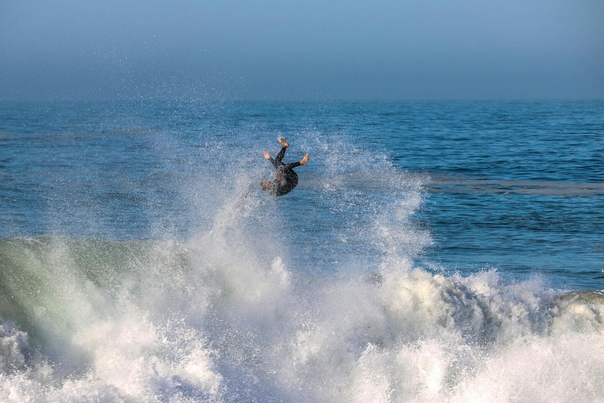 Surfer at The Wedge, Newport Beach, CA